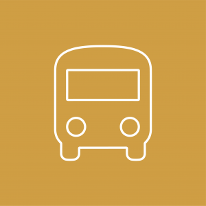 Bus icon to indicate bus links to follow