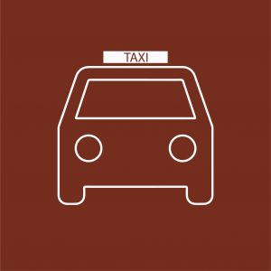 Taxi icon to indicate information to follow